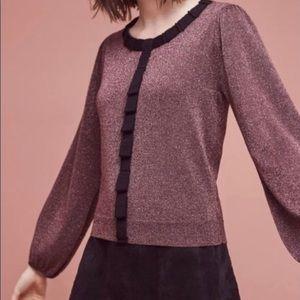 Anthro Field Flower Pallas Pullover Wool Sweater